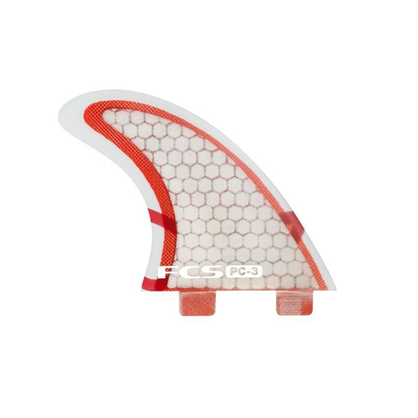 PC-3 red/clear tri fin set (Small)