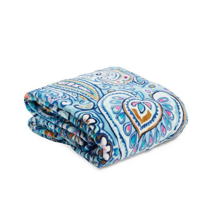 Plush Throw Blanket Daisy Dot Paisley