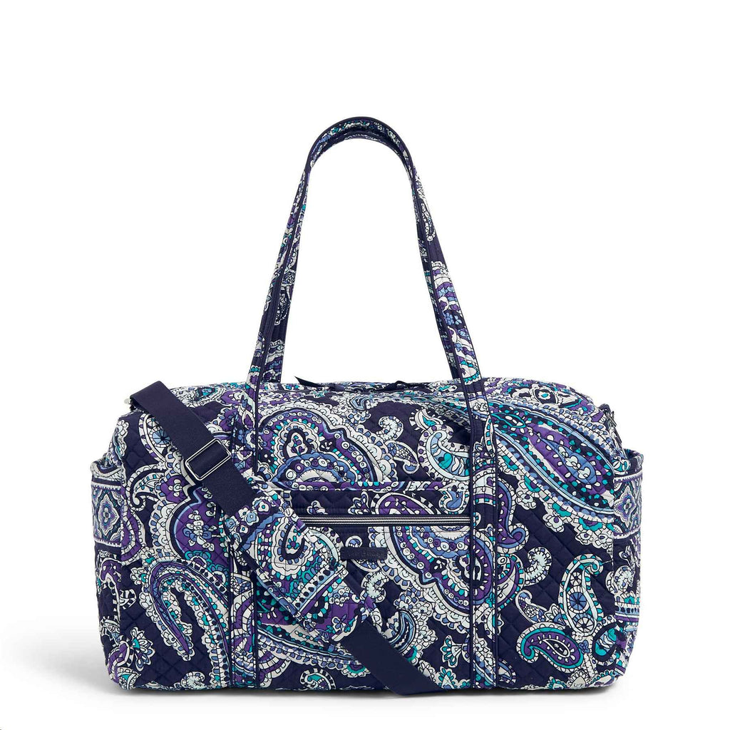 Large Travel Duffel Deep Night Paisley