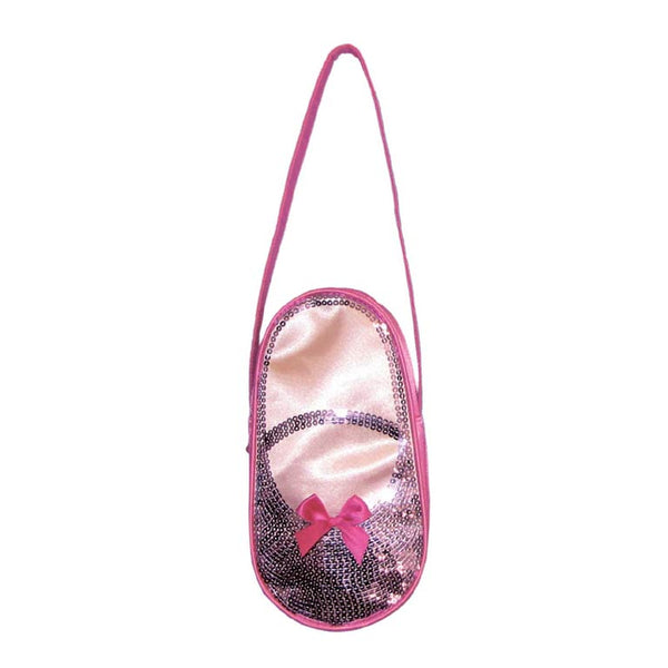 Satin & Sequins Ballet Slipper Bag -Pink