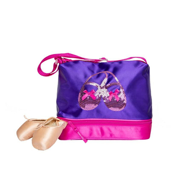 Satin & Sequins Gear Tote - Purple