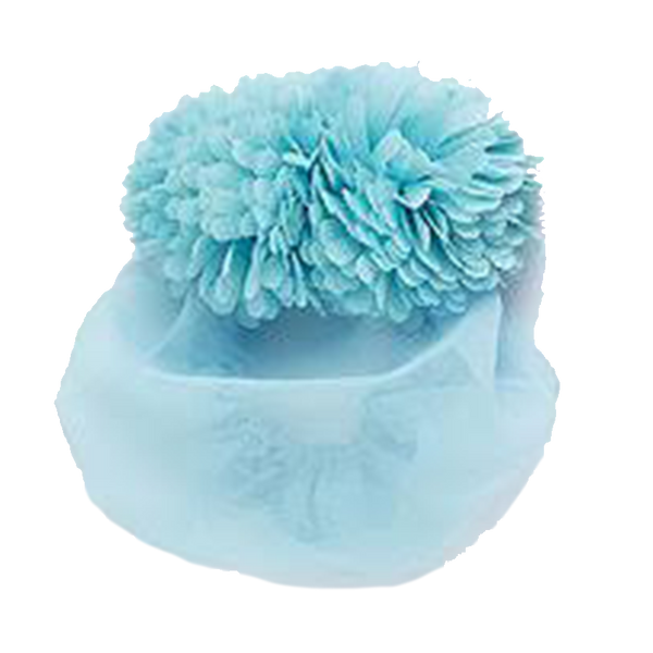 Poms snood litgh blue