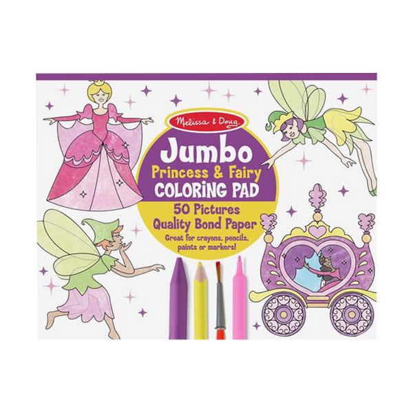Jumbo Coloring Pad - Princess & Fairies