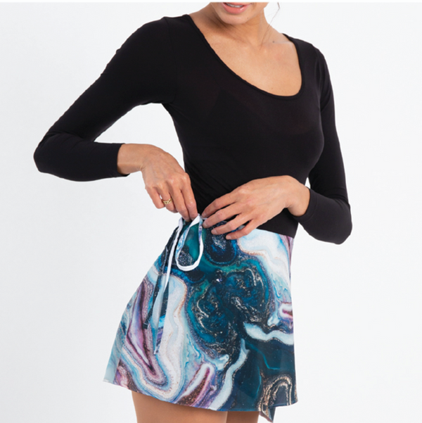 Colette Wrap Skirt -Galaxy in Teal