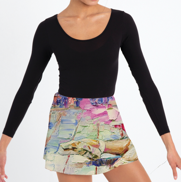 Colette Wrap Skirt -Abstract Art