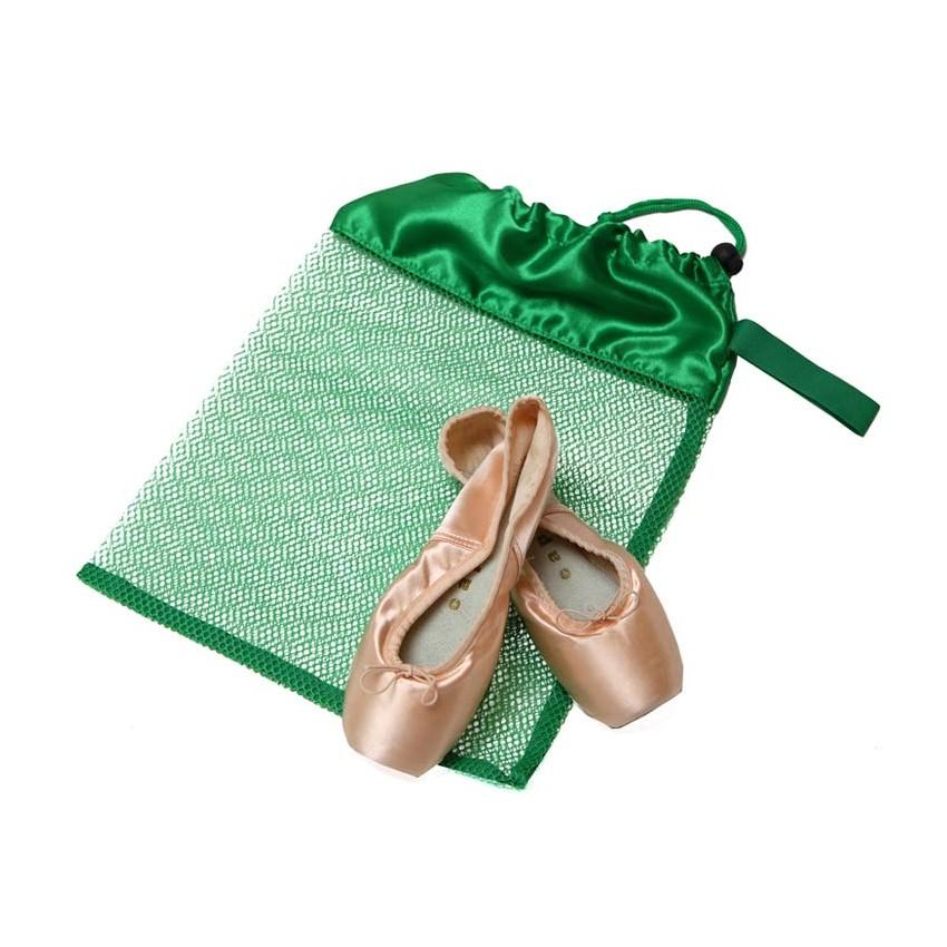 Mesh shoe bag -green