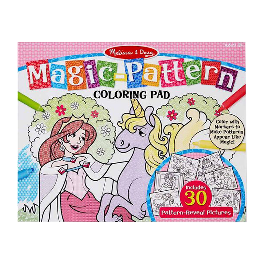 Magic-Patterns Coloring Pad - Pink