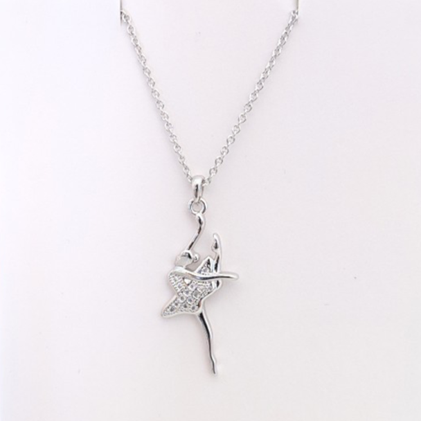 Ballerina necklace - silver