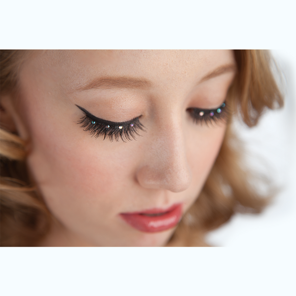 Rhinestone performance lashes