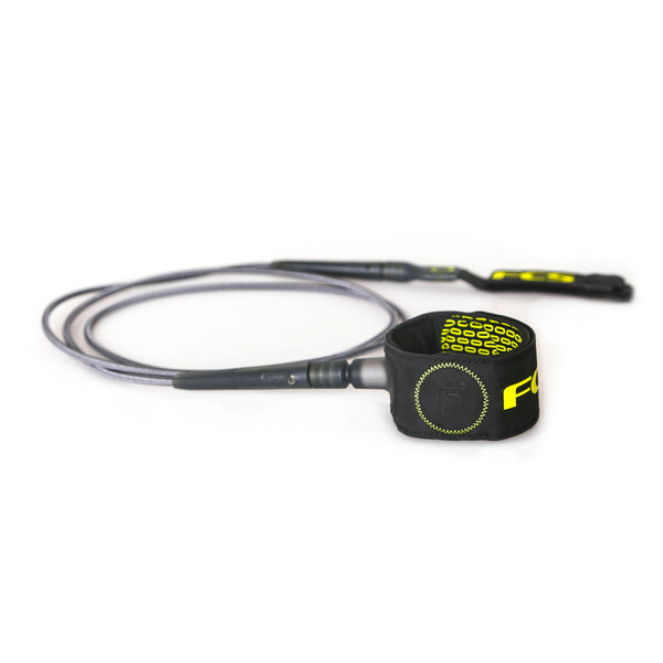 FCS 6' Freedom Leash Charcoal/Green