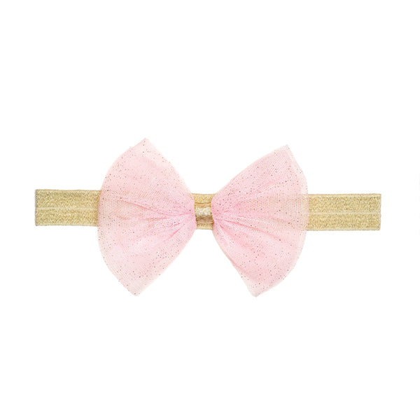 Light Pink Bow Soft Headband