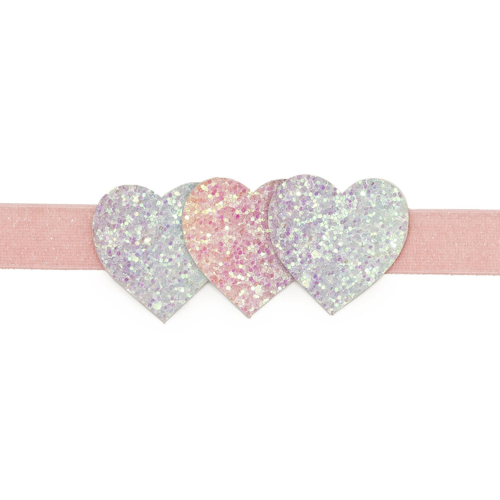 Pastel Triple Heart Soft Headband