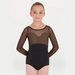 Diamond Mesh Long Sleeve Leotard