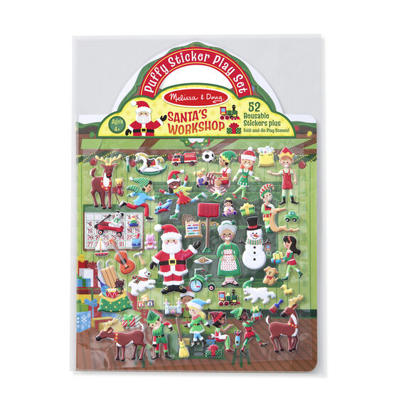 Reusable Puffy Stickers Santas Workshop