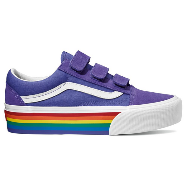 Old Skool V Platform (Rainbow) liberty/true white