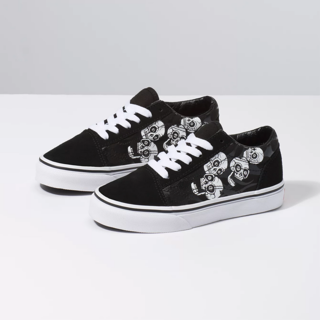 Old Skool (Glossy Flame) Skulls/Black