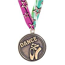DANCE MEDALS - 2 inches DANCE MEDAL WITH RIBBON