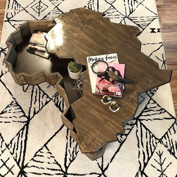 Africa Coffee Table - Swivel Top (4 FT)