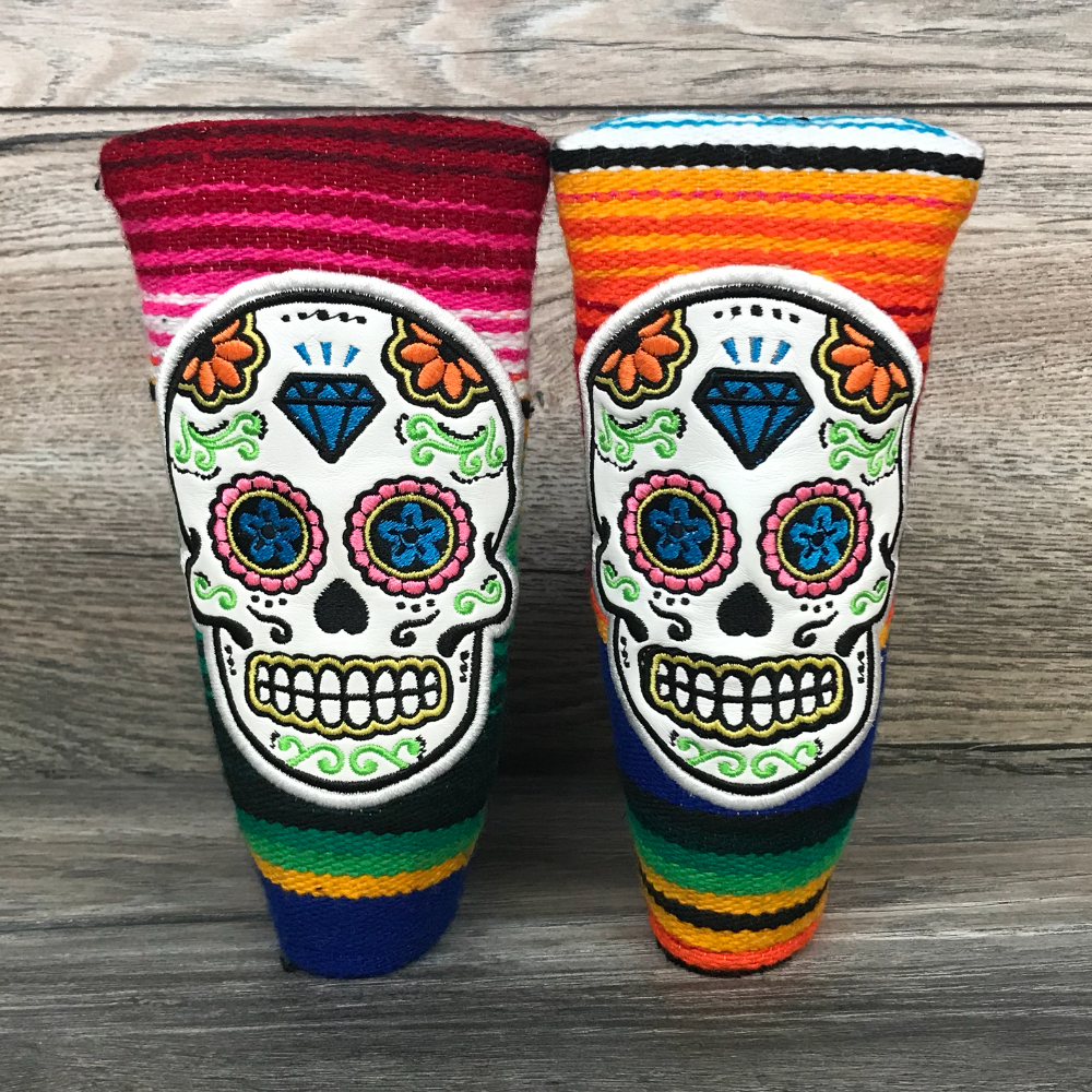 Golf Iconic Sugar Skull Serape Blade Headcover