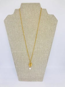 Sea shell & pearl necklace