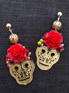 Sugar skull earrings