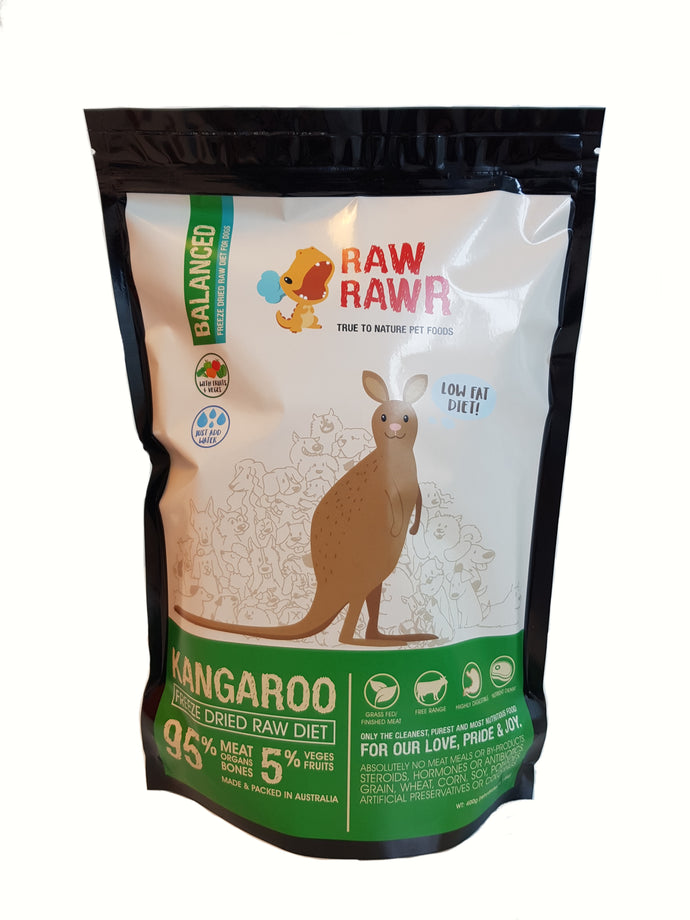 Raw Rawr Freeze Dried Balanced Kangaroo - 1.2kg