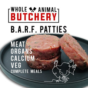 Frozen Whole Turkey Patties - Barf