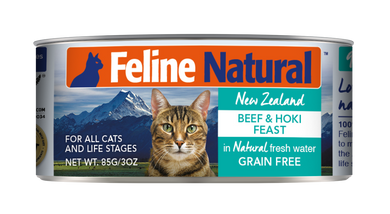 Feline Natural Canned - Beef & Hoki