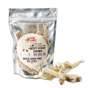 Raw Rawr Freeze Dried Treats - Beef Strap Chews