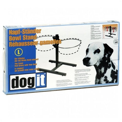 Dogit Adjustable Dog Bowl Stand - Large - Fits 2 x 2L (67.2 oz) dog bowls [73496]