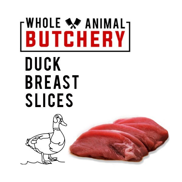 Frozen Duck Breast Slices (Skinless)