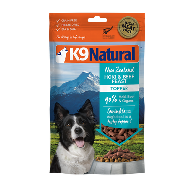 K9 Natural Freeze Dried - Hoki & Beef Toppers