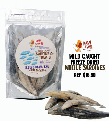 Raw Rawr Freeze Dried Treats Whole Sardines