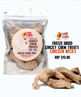 Raw Rawr Freeze Dried Treats Chicken Necks