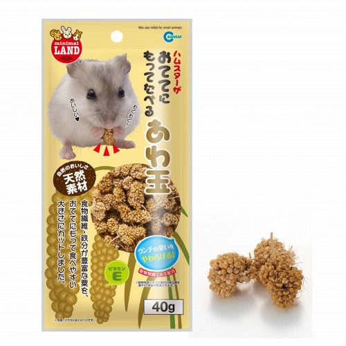 Marukan Bite Size Millet For Small Animal 40G (ML172)