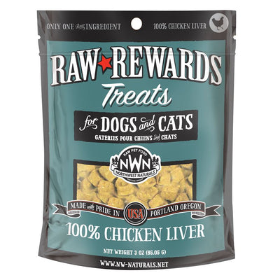 Northwest Naturals Freeze Dried Chicken Liver Cat & Dog Treats - 3oz