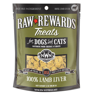 Northwest Naturals Freeze Dried Lamb Liver Cat & Dog Treats - 3oz