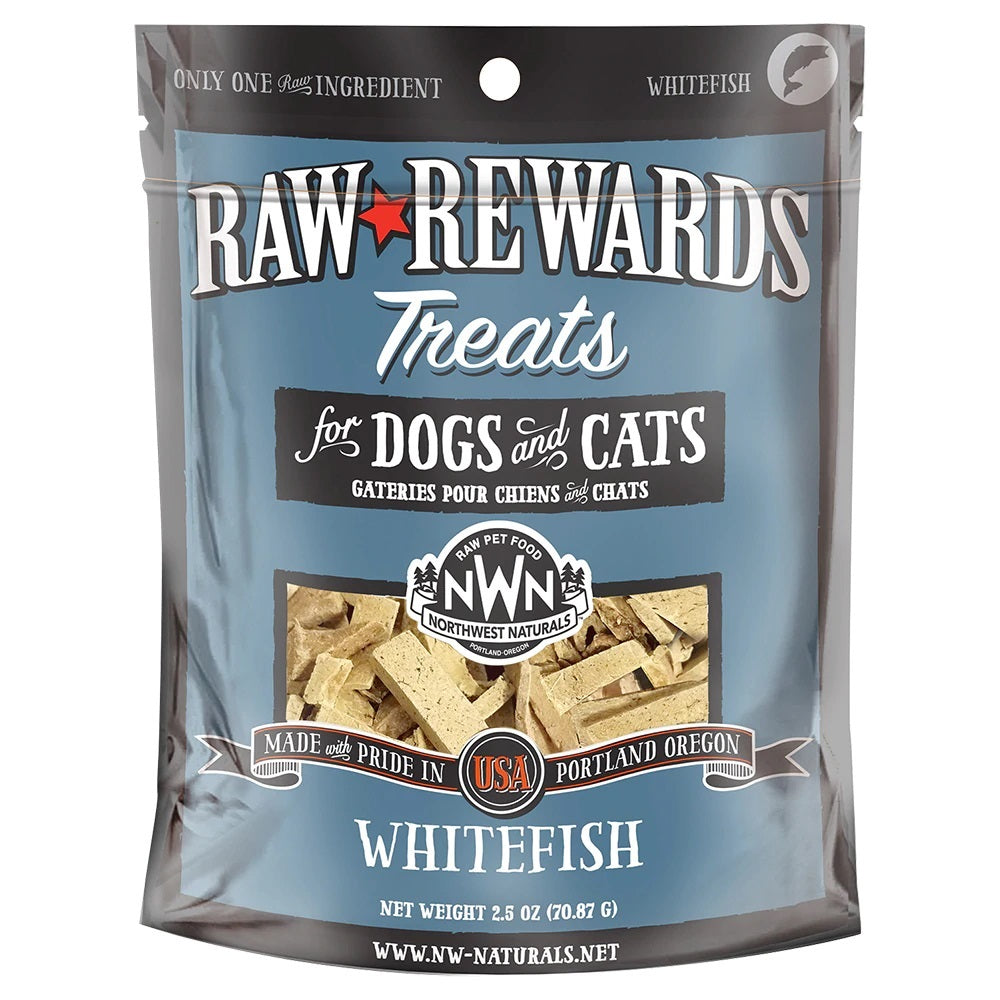 Northwest Naturals Freeze Dried Whitefish Cat & Dog Treats - 3oz