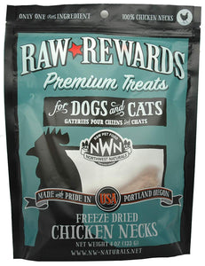 Northwest Naturals Freeze Dried Chicken Necks Cat & Dog Treats - 4oz