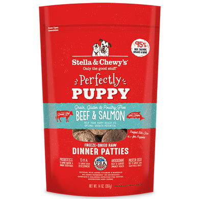 Dinner Patties - Perfectly Puppy Beef & Salmon (14oz)
