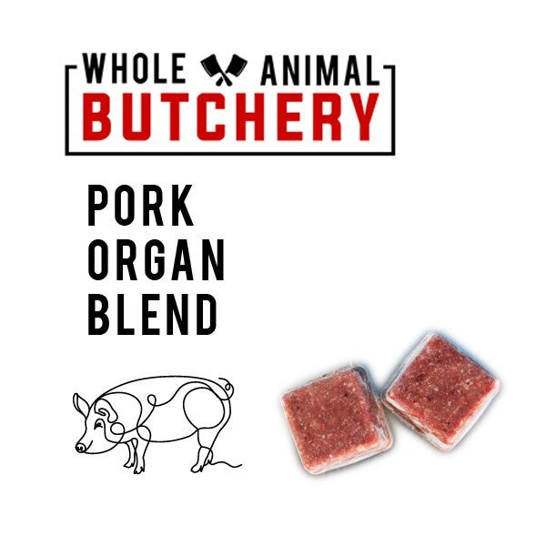 Frozen Raw Pork Organ Blend