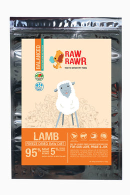 Raw Rawr Freeze Dried Balanced Lamb - 400g