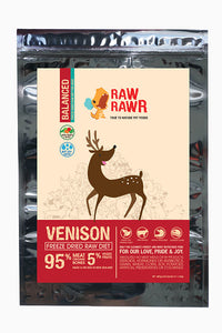 Raw Rawr Freeze Dried Balanced Venison - 400g