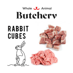 Frozen Rabbit Cubes - Boneless