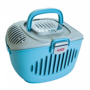 Living World - Paws2Go Small Pets Carrier (Grey/Blue)