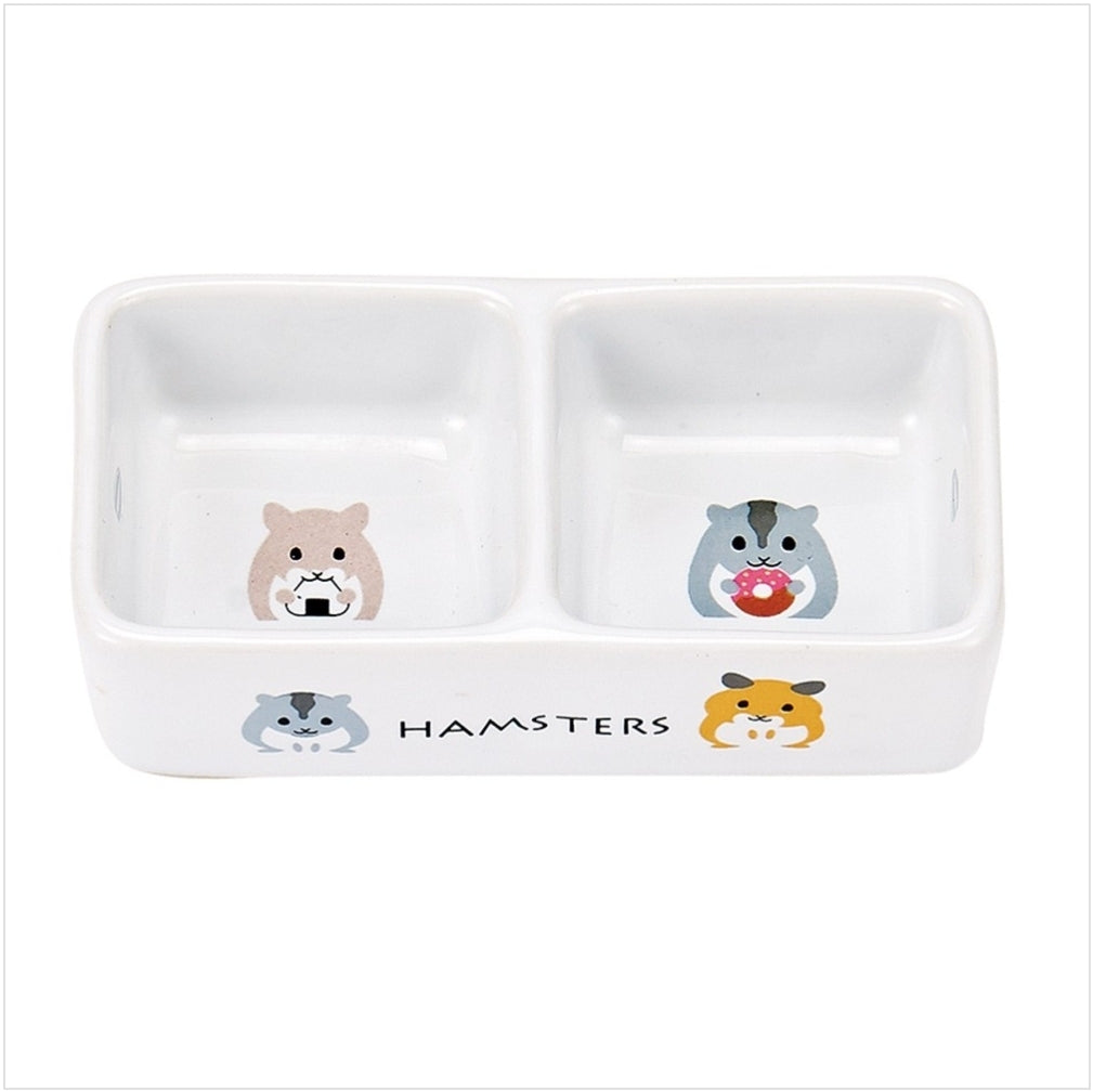 Marukan Porcelain Double Dish for Hamster [ES19]