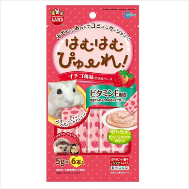 Marukan Strawberry Flavored Puree for Hamsters 5g x 6 [MR845]