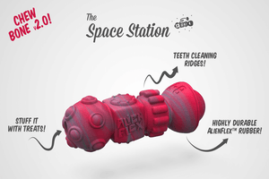 Spacestation Rubber Toy