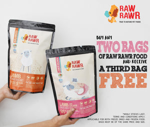 Raw Rawr Freeze Dried Beef & Sardines - 400g