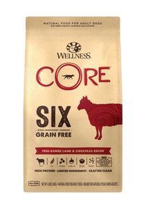 Wellness Core 6 Grain Free - Lamb & Chickpeas Recipe (4lb)